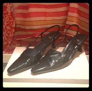 "Stuart Weitzman patent  leather 2 "" heel shoes"